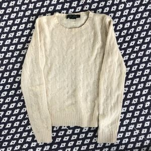 Ralph Lauren cashmere cream cable sweater